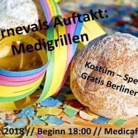 Neue Veranstaltung: Karnevalsauftakt: Medigrillen