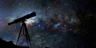 A look at a telescope pointing to the stars