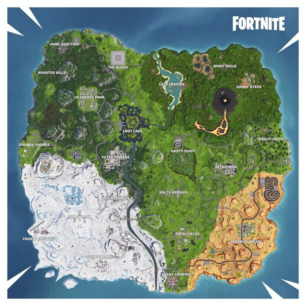 Image result for fortnite season 8 map