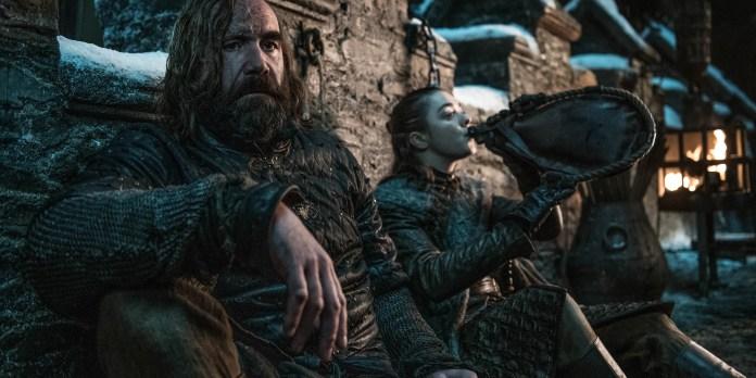 hound y Arya batalla de Winterfell