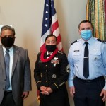 His Excellency Ambassador H. Susaia, DCM Jackson Soram and staff of the Embassy attended the promotional ceremony in honor of Sergeant First Class (SFC) Mrs. Youreen Caldwell to Master Sergeant.