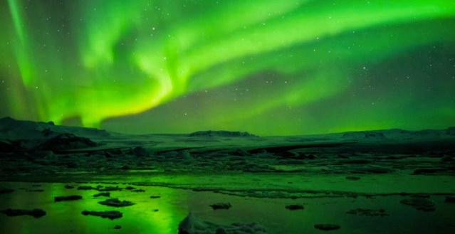 Time lapse photography of Iceland