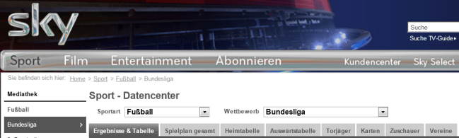 SkyBundesligaDatencenter