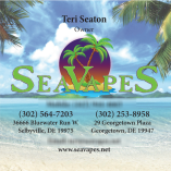 Front of the Owner's Business Card done in the Square format