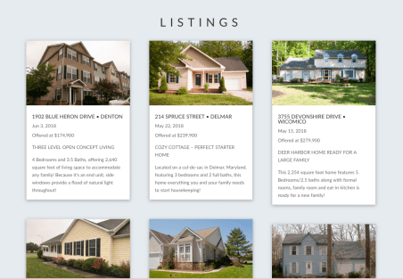 Listings Section