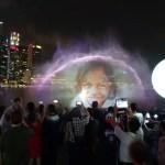 シンガポールのマリーナベイの夜景とワンダーフル(光と水のショー)に感動☆