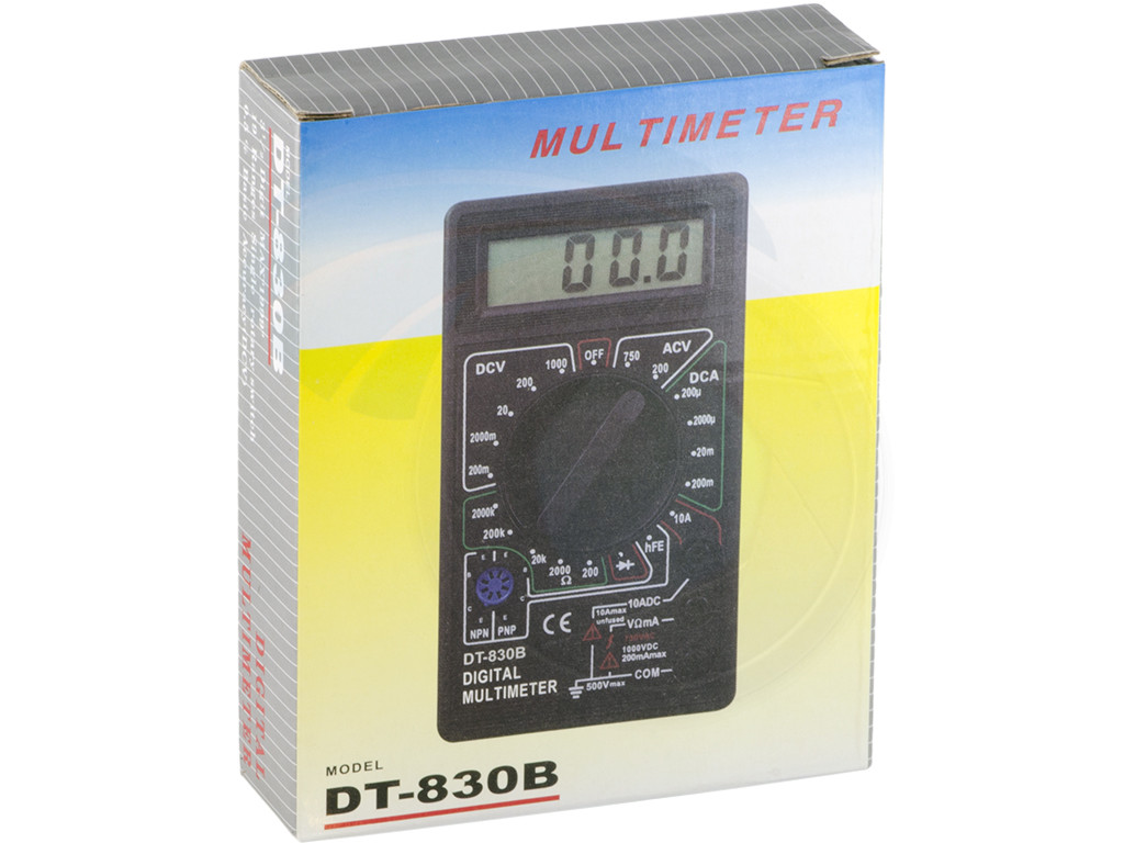 Digital LCD Display AC/DC Tester Voltmeter Ammeter Ohm