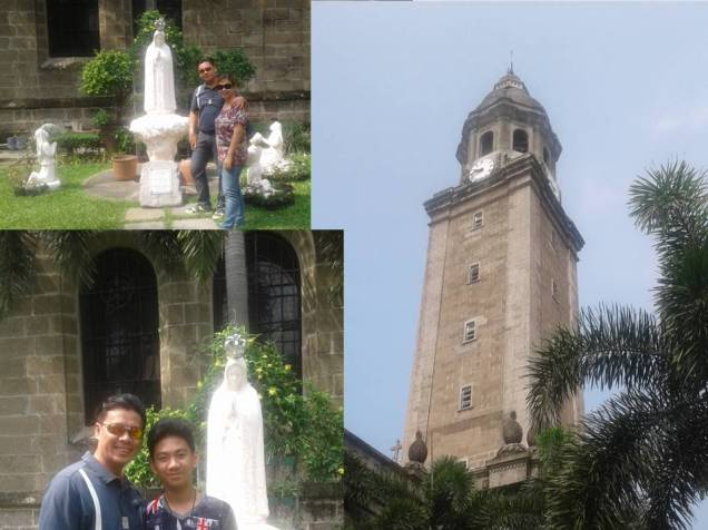 Some snaps after completing our prayers at the Manila Cathedral