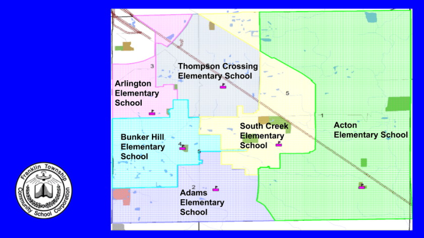 Map of all elementary schools