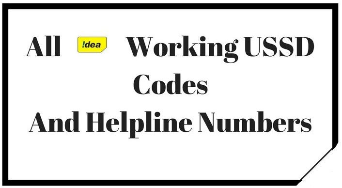 Idea All USSD Codes