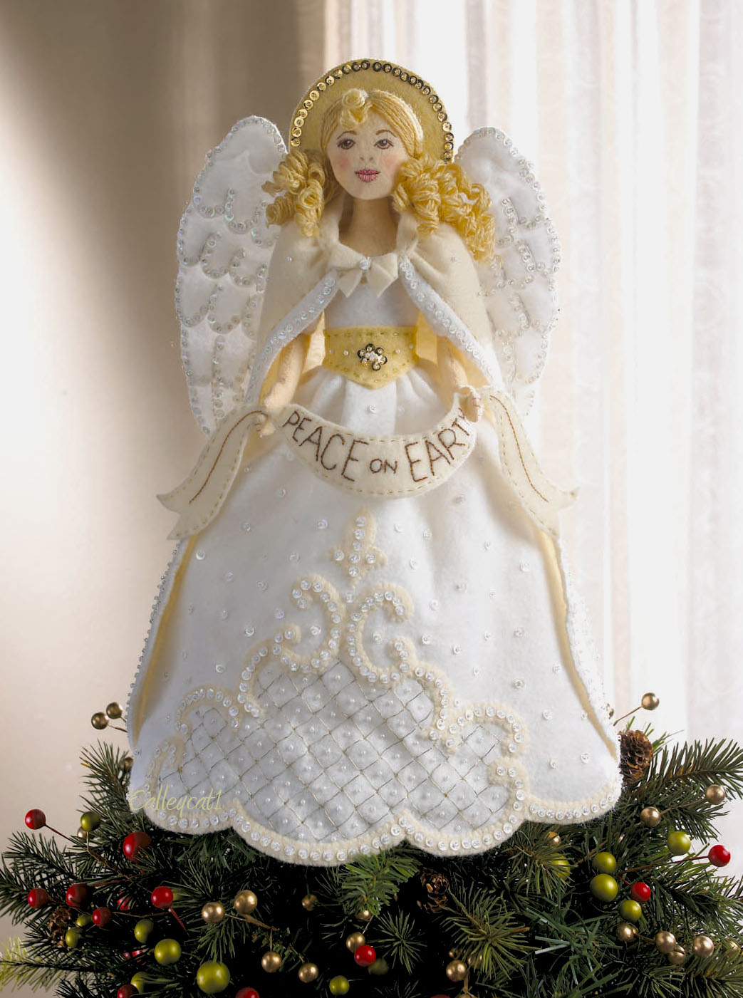 Angel Topper Christmas Decorations