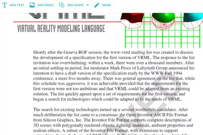 Screenshot of the Smallpdf online PDF editor