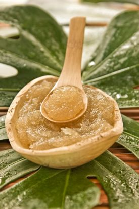 Brown sugar and honey scrub