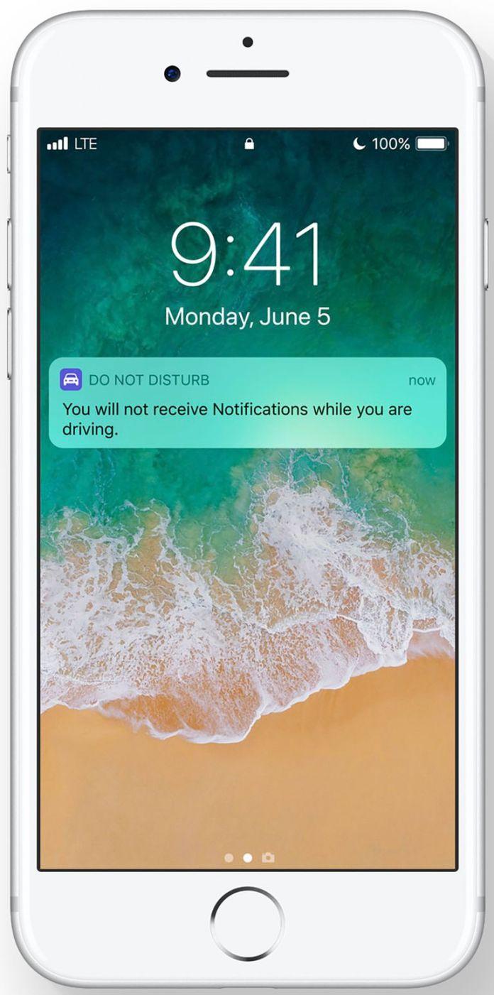 iOS 11 Do Not Disturb While Driving