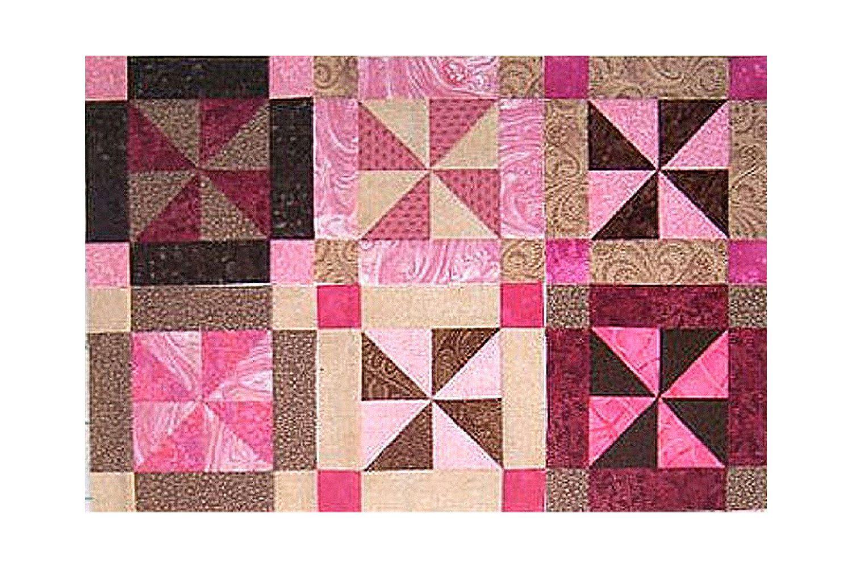 Easy Framed Pinwheels Quilt Block Pattern