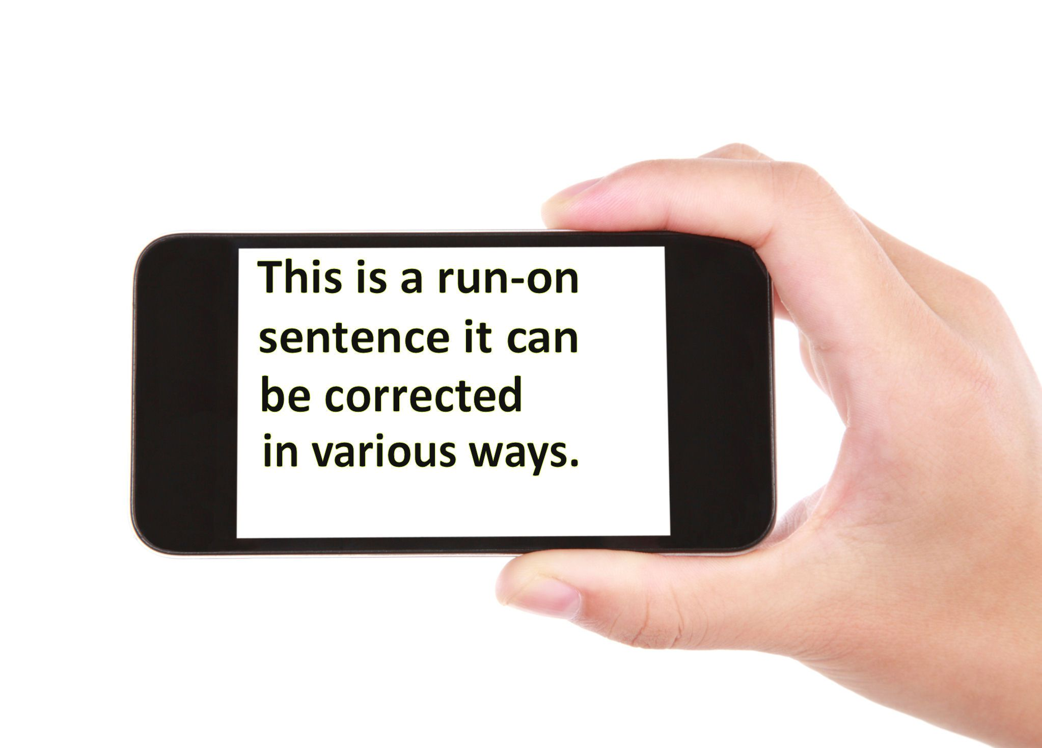 Ways Of Correcting Run On Sentences
