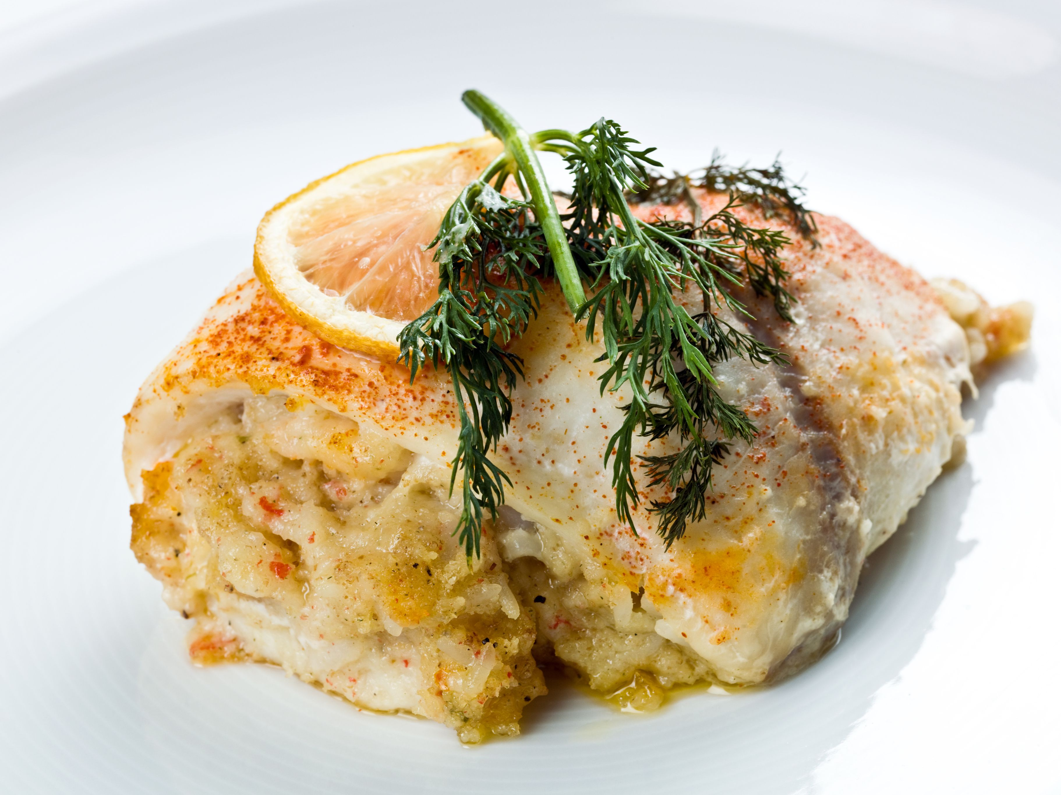 Baked Stuffed Fish Fillet Recipe With Breadcrumbs
