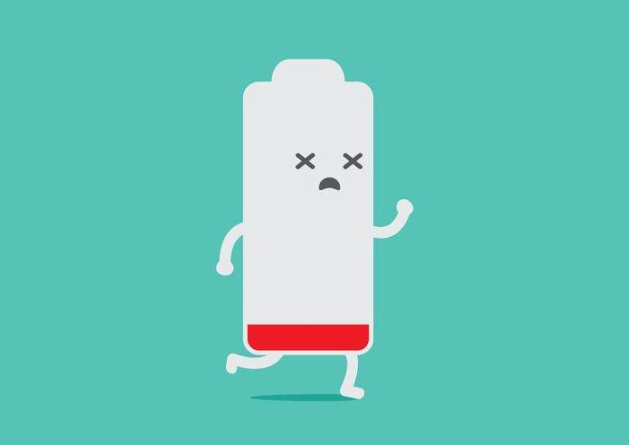 Drained battery running away