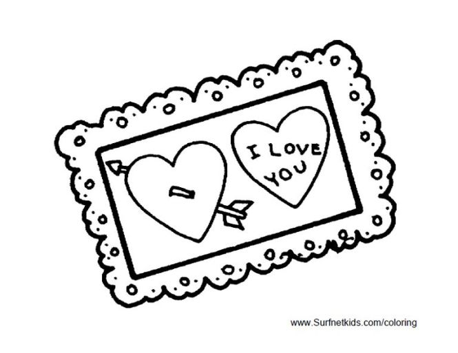 valentine card coloring pages | Coloring Page for kids