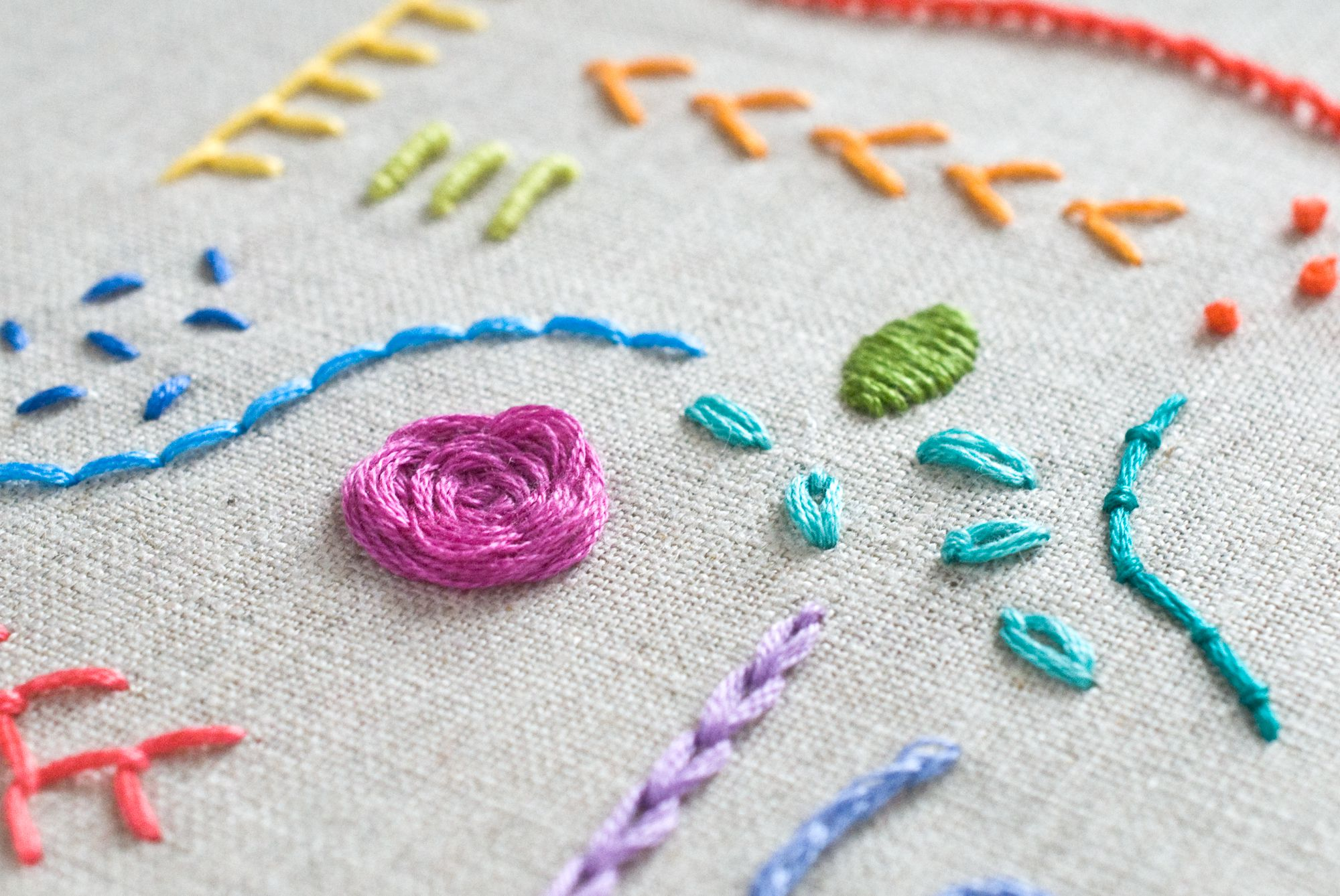 Design Your Own Embroidery Sampler