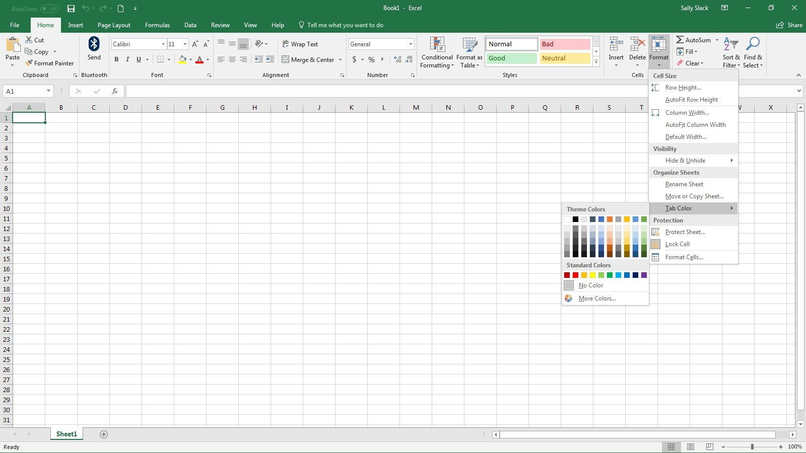 Color Excel Worksheet
