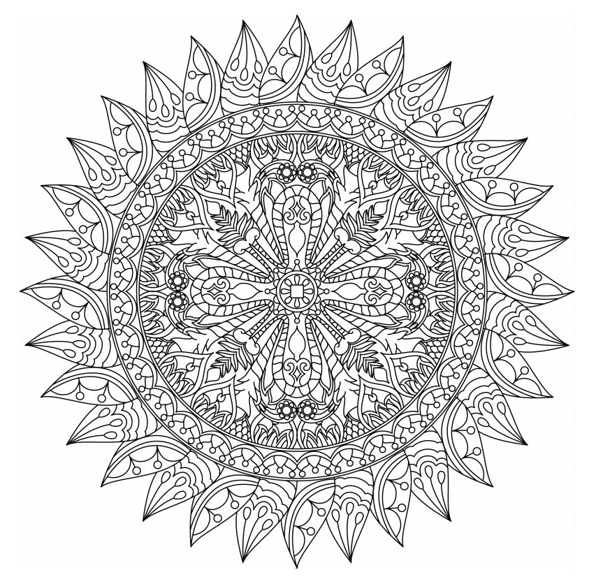 498 Free Mandala Coloring Pages for Adults | free printable mandala coloring pages for adults easy