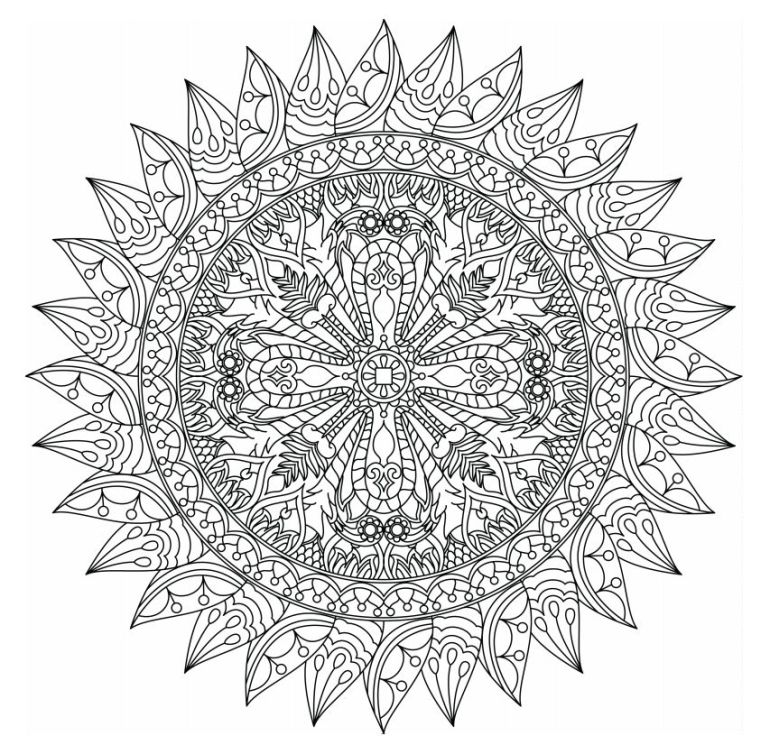 498 Free Mandala Coloring Pages for Adults | free printable mandala coloring pages for adults