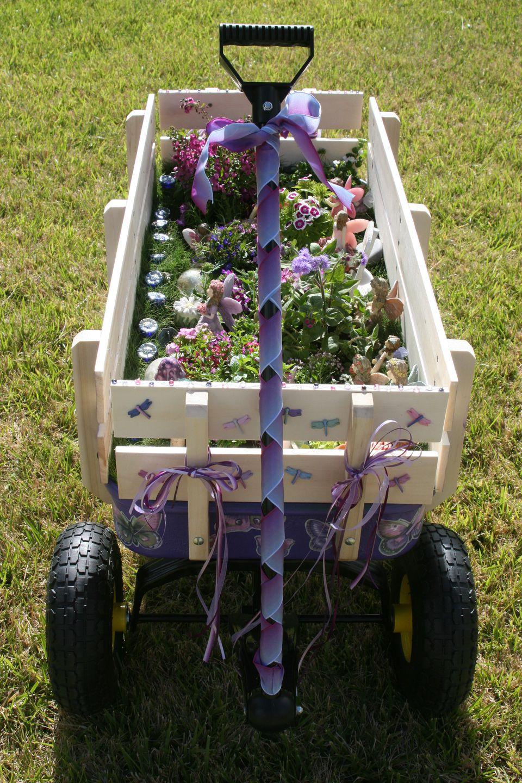 fairy garden ideas: Fairy garden on wheels