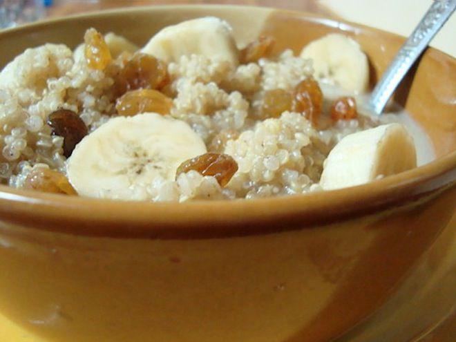 Fat-free Vegan Orange Banana Breakfast Couscous