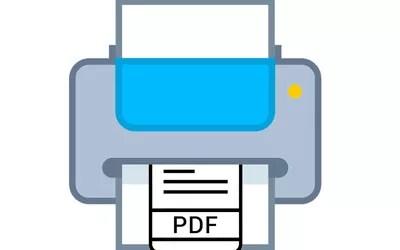 Illustration of a PDF printer