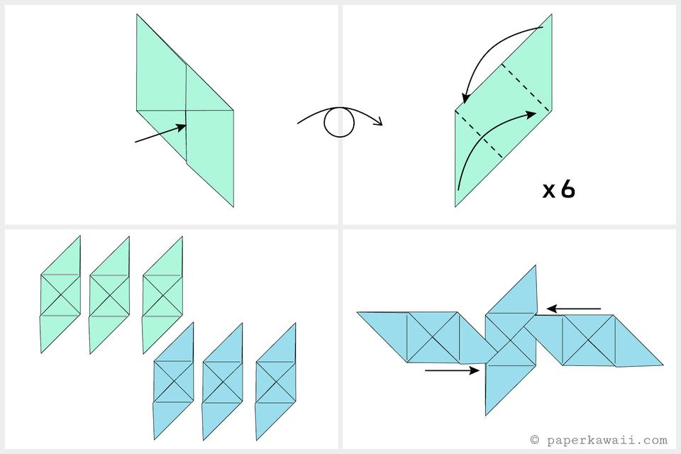 Cube Paper Fold Into Box
