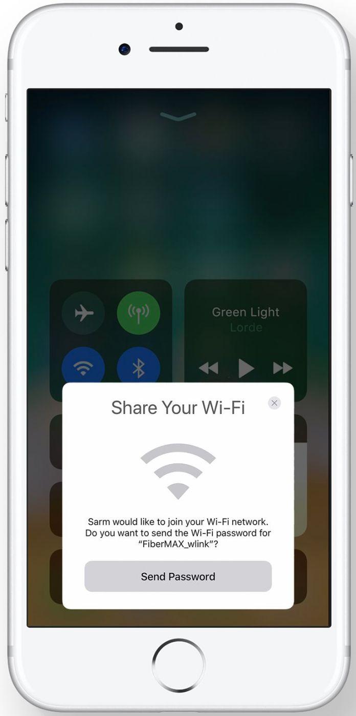 iOS 11 Wi-Fi Sharing
