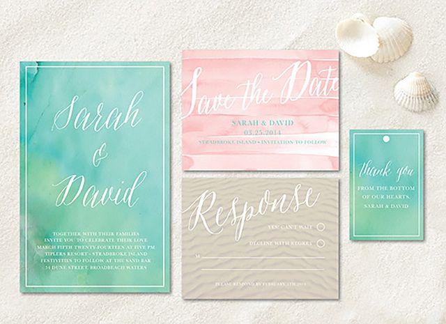 Watercolor Printable Wedding Invitation