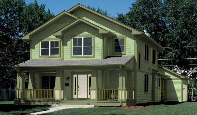 Trim Green Lime Brown Homes