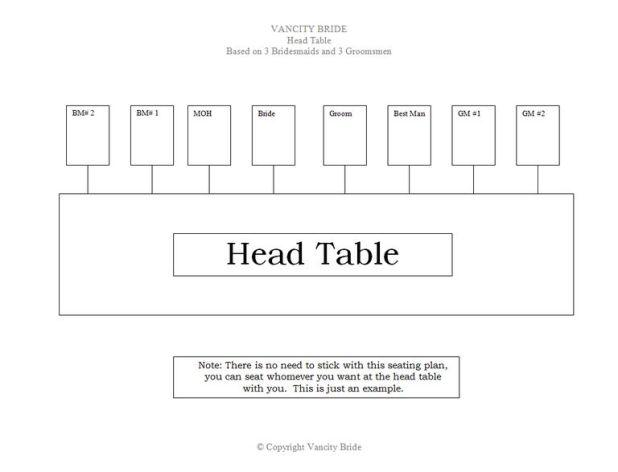 table plan wedding template
