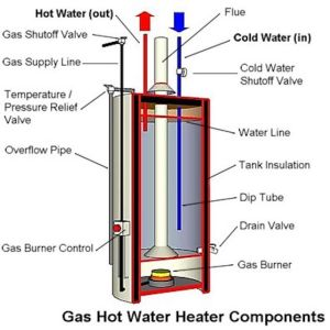 Anatomy of a Tank Type Gas Water Heater