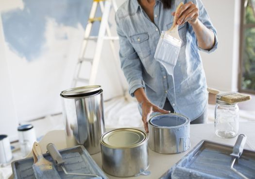 Tools And Supplies To Paint Manufactured Home Walls