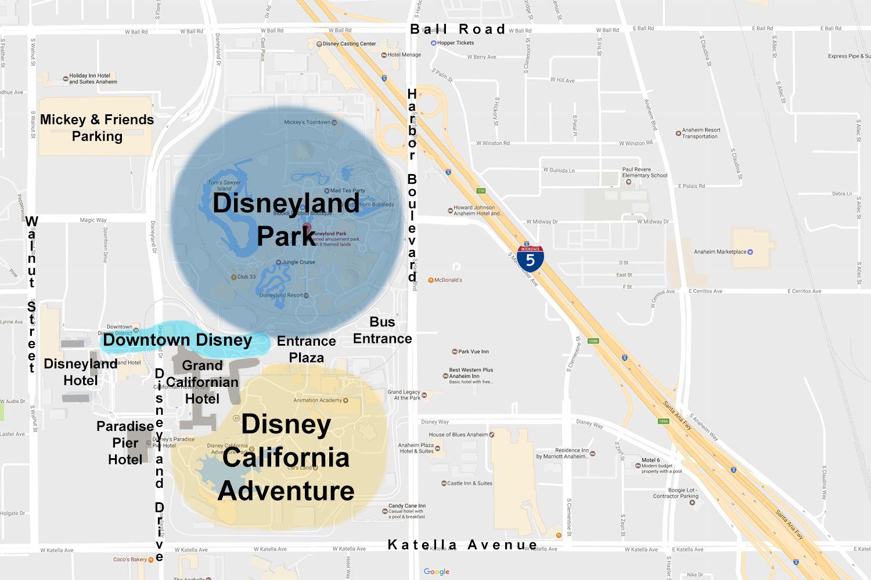 Maps Of The Disneyland Resort
