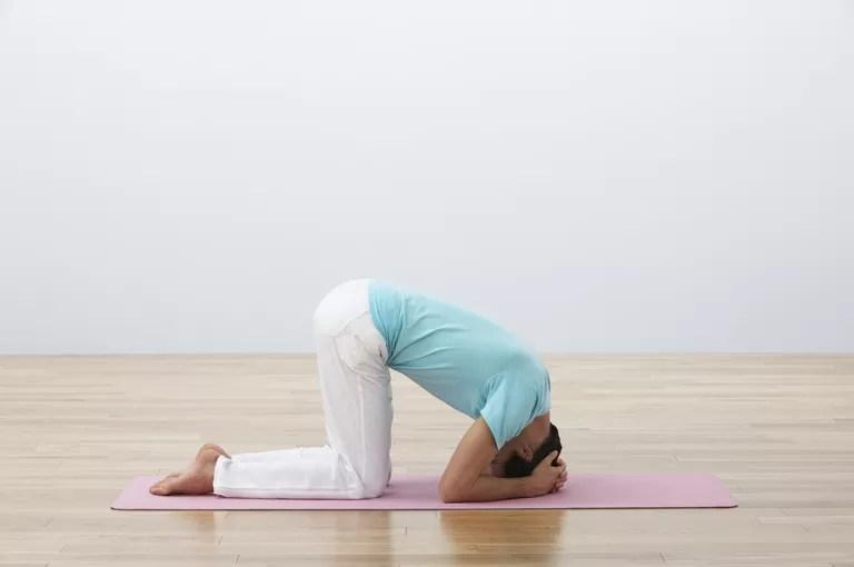 Yoga headstand prep