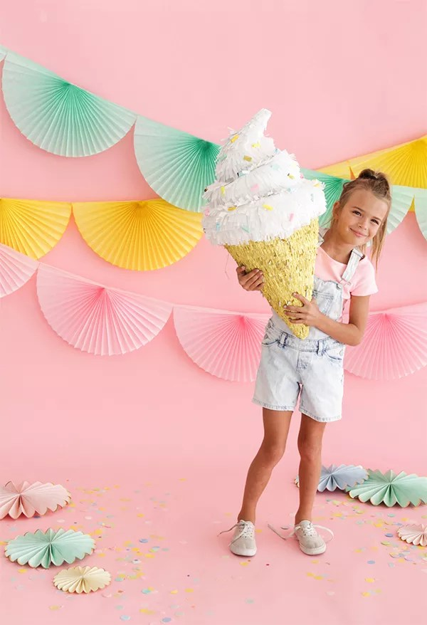 DIY Ice Cream Cone Pinata