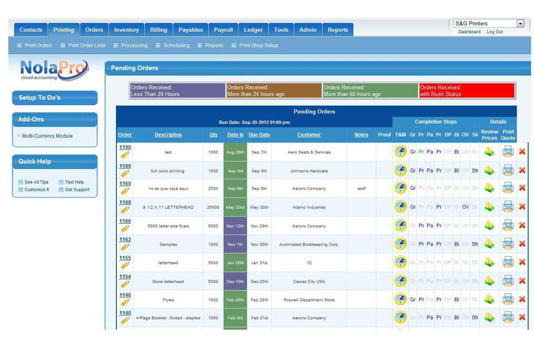 Business accounting software