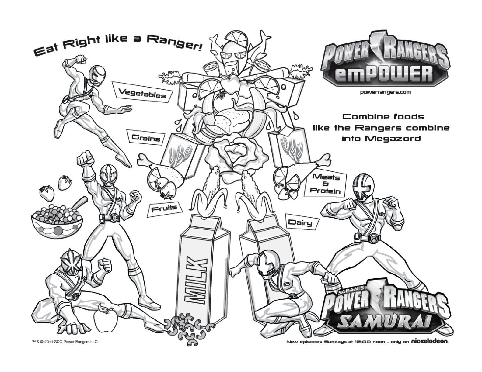Free Printable Power Rangers Samurai Coloring Page