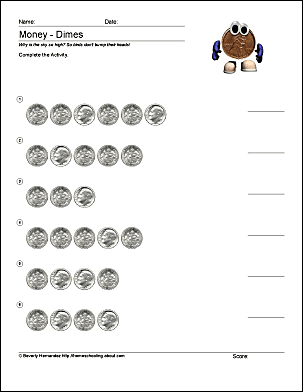 Math And Money Worksheets
