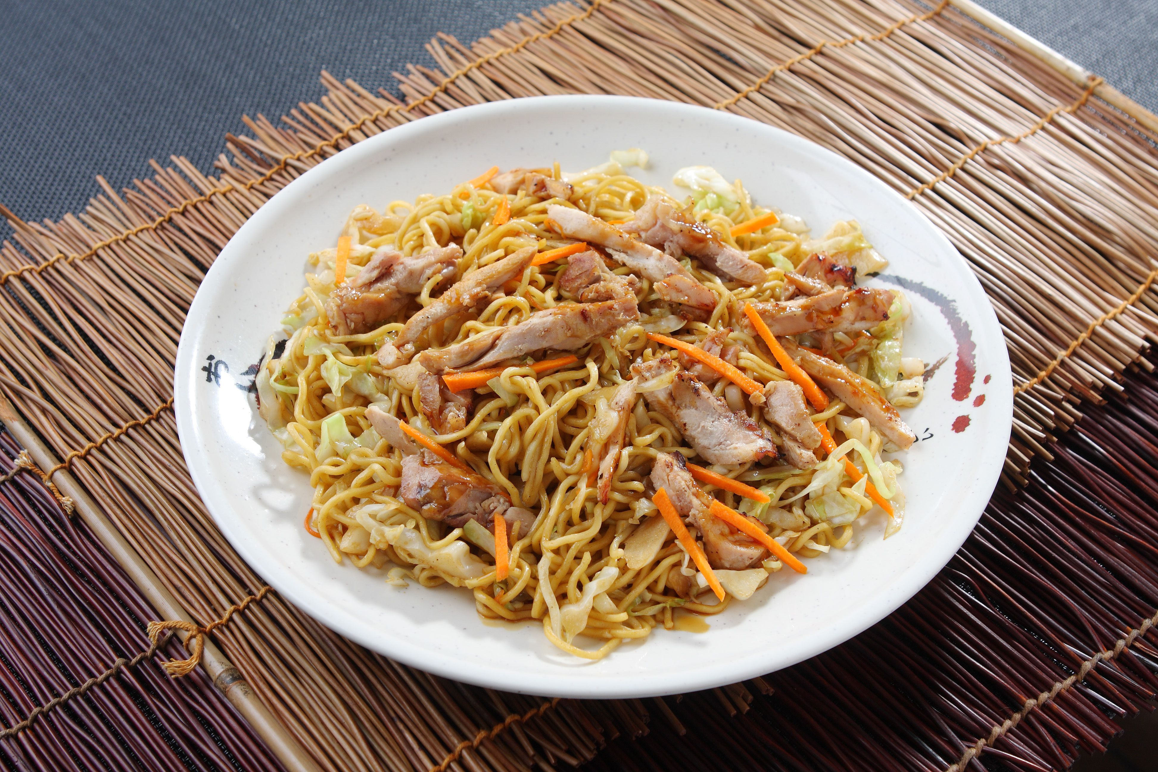 Rice Chicken Chow Dry Mein Noodle And