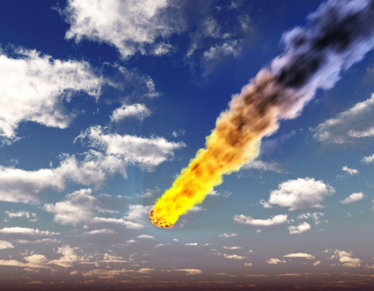 Dünya atmosferi içindeki meteorite, resim
