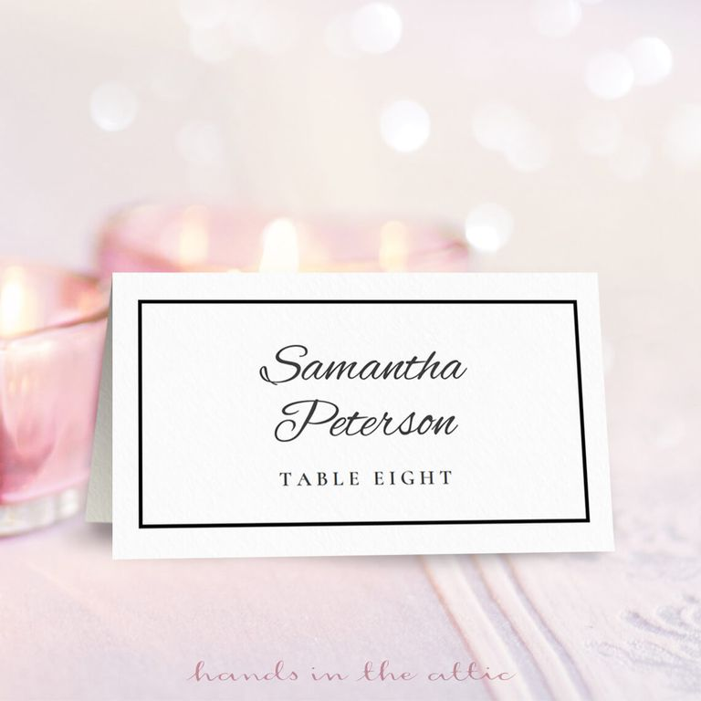 9 Sets Of Wedding Place Card Templates