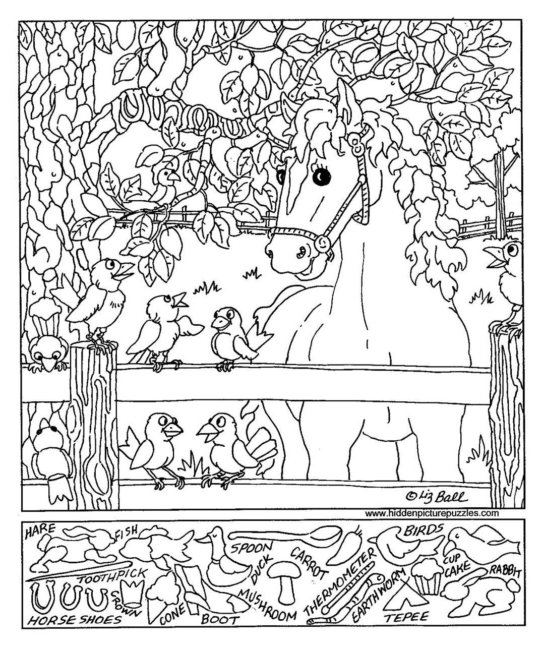 Fresh I Spy Coloring Pages Free
