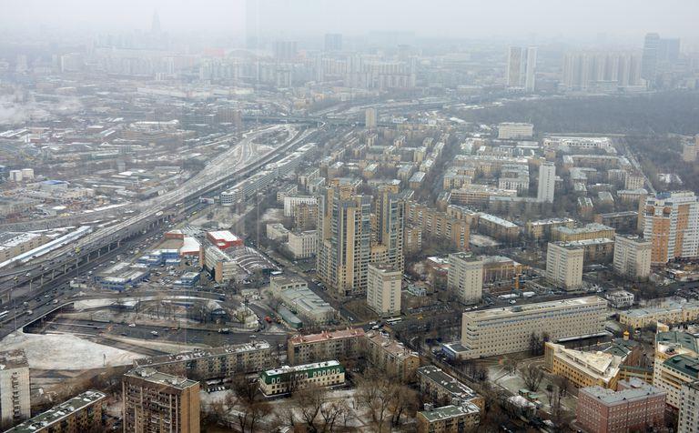 Moskova banliyösünün havadan görünüşü