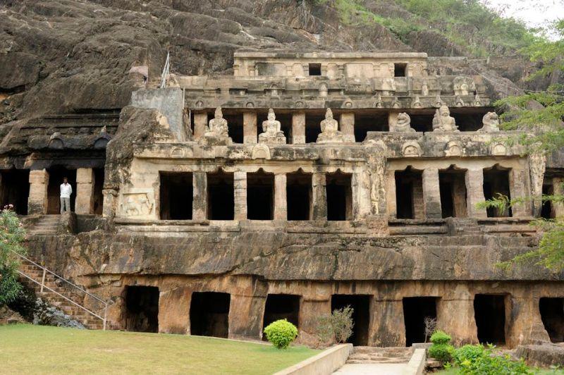 Undavalli cave temples.