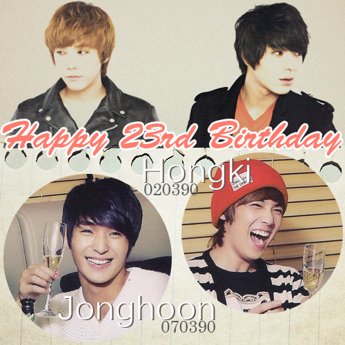 visu projet Happy 23rd Birthday Hongki Jonghoon